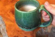 Pottery Mugs / pottery mugs! so many mugs to enjoy. such beauty. the handle, the foot, the glaze, handmade, handcrafted. life is too short for a generic mug. coffee is love, your mug should honor that love! coffee tastes better in a handmade mug.