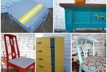 Refurbished furniture - Odnowione meble / Jaki efekt można osiągnąć odnawiając stare bądź nudne meble