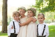 Flower girls and Ring Bearers / Ideas for you little wee wedding party members.  Flower girls and Ring bearer ideas from clothing to photos to flowers and ring pillows. #ringbearer #flowergirl
