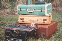 Vintage Suitcases and Trunks / Vintage Wedding Rentals.  Collingwood ON Canada www.LittleWeePropShop.com