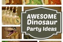 Dinosaur Party / A collection of ideas for a child's dinosaur birthday party