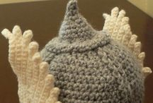 Crochet, knitting, weaving