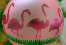 Bring on the Flamingos / just love them, and I make flamingoes on slate in mosaic too