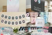 Baby showers & Gender Reveals / Plenty of ideas for planning a baby shower or gender reveal party from themes, to food or drink recipes and cakes to baby shower gifts, party decorations, and even baby shower party favors!    / by Baby Bump Bundle