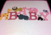 Baby Shower Cakes / He or she? Either way, we can create a custom cake for your shower!