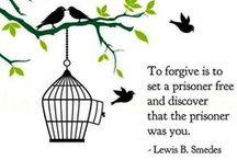 "Forgiveness / "" Since God forgives the inexcusable in us, we should forgive the inexcusable in others."" Forgive them 70 x 7 times, and so I shall."