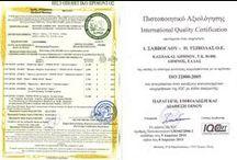Certifications , Awards - Πιστοποιήσεις,βραβεία