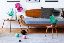 [Living Color!] / I love vintage colors and furniture  combined with new design!  / by Linda Baart