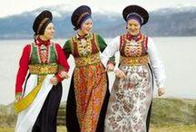 Norwegian traditional Costumes / Norske Bunader