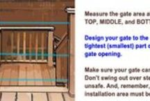 Installing Custom Deck Gates / With Gates2U Deck gates, you just need strap hinges and a 4x4 post or other solid surface to hinge to. Order at www.deck-gates.com Waterseal your gate seasonally to add to its life.