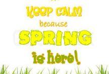 Lente-Spring / Het vrolijke gevoel van de lente weergeven.