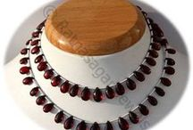 Garnet Gemstone Beads / Garnet Gemstone - this gemstone is mainly used in making jewelry items like rings, necklaces, bracelets and pendants. These gemstones are available online at Ratna Sagar Jewels.