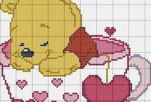 Pixel Diagrammen / Diagrammen om te gebruiken bij het haken en breien