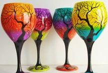 Handpainted Wineglasses / Decorative