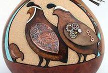 ~ Gourd Art ~ / Handmade and handpainted