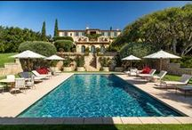 Exteriors / Spectacular exteriors of various homes in Montecito. The majority of these homes are either current listings or past sales of Rebecca Riskin & Associates.