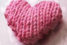 Knitting/Crochet, felt & Thread / Strikke/hækle relateret
