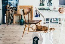 Studio inspiration / Studio flat inspiration - scandinavian design mixed with a hint of modern and retro design.  / by Daz