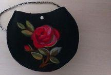 My Felted bag.keçe çanta çalışmalarım / My handmade felt bags.by aylin öğütçü.