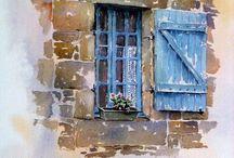 Watercolor painting,suluboya resim / ...