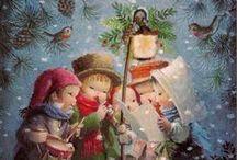 Christmas Vintage Cards 1 / Children, Angels and Elfs