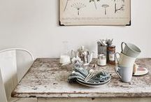 At the Table / Creative ideas for styling your dining or kitchen table. We love a beautiful tablescape.