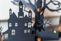 Halloween Haunted Houses & Shadow Boxes / Shadow Boxes & Vintage Cards
