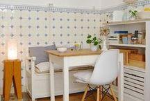 Küche / Küche, Wohnküche, Retro, Scandi, Vintage