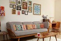 Livingroom / Esszimmer, Wohnzimmer, Wohnen mit Klassikern, Wohnen mit Grün, Retro, Scandi, Vintage