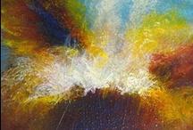 """MAURIZIO CAMATTA (Polla 1966) / M. Camatta esordisce dipingendo """"en plain air"""", ispirato dai paesaggi del trevigiano. Affronta diverse tecniche, dalla pittura all'affresco. Soggetto principe è la natura, dapprima in modo figurativo, per poi passare a rappresentazioni meno esplicite. Frequenta l'Accademia Antonio Pizzolon ed in seguito l'Accademia d'Arte Bad Reichenhall. Partecipa a diverse iniziative internazionali (Londra, San Pietroburgo, New York, Lima) ed insegna con Thomas Lange all'Accademia d'Arte di Geras."""