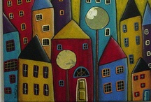 Abstract houses