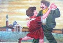 SALVO LOMBARDO / Brillante ed emergente pittore siciliano,  molto amato dai collezionisti Italiani e stranieri , è il più mordace e raffinato continuatore della migliore tradizione della pittura ironica-satirica europea.  Le sue opere si trovano presso collezionisti e gallerie  di tutta Europa.  Vive e lavora tra la Sicilia, Roma e l'Inghilterra.