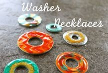 Washer Necklaces / My favorite necklaces made with metal washers.