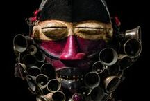 African face masks / images of face masks designed to scare of evil spirits..... / by Robin Crawford