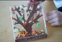 Jesień / Prace plastyczne dla dzieci jesień. Art work, craft for children autumn.