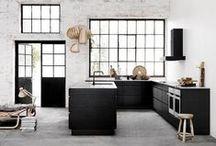 Architecture: black loft windows