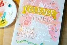 Skillshare Beautiful handlettering using Acrylic Paint / This pinterest board is part of my Skillshare class on lettering with acrylic paint