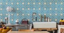 Wall Decoration with Cement tiles