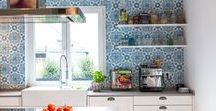 Kitchen Design ideas with Cement tiles