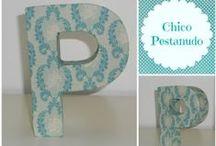 Letras / Letras forradas a tecido para personalizar o seu espaço.