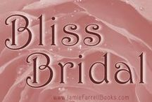 Bliss Bridal's Wedding Board / Natalie from THE HUSBAND GAMES (a fun small-town bridal romance coming later 2014) has a board of advice for brides who are gown shopping.