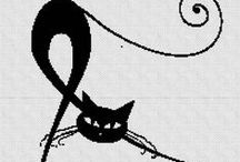 PUNTO DE CRUZ (Animales) / Desde un dinosaurio hasta un lindo gatito...borda a punto de cruz tu animal favorito ayudado por estos gráficos.