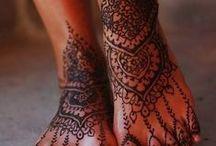 TATUAJES Y HENNA. / Arte temporal o permanente en la piel.