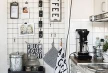Ideas for a Small Kitchen / Ideas how to design and decorate a small kitchen to be beautiful and practical.  Kitchen Kitchenette