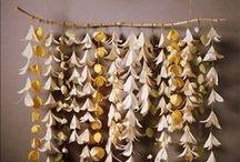 Papírové dekorace na svatbu