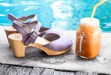 Spring/summer 16 - A Tropical sensation / Dive into our newest collection featuring all-new and vibrant tropical color ways. Spring and summer is the time to embrace the sizzling sun in a pair of Sandgrens Clogs. This collection is inspired by serenity experienced through the brighter days ahead.   Put your life at ease and cherish the colors that are synonymous with this time of year.  There have never been colors quite like this!  www.sandgrensclogs.com / by Sandgrens Clogs