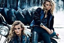 """STYLEPIT ♥ Rock Denim Chicks / """"I said, I know it's only Rock 'N' Roll but I like it, I said, I know it's only Rock 'N' Roll but I like it, like it, yes, I do, Oh well, I like it, yeah, I like it, I like it""""  Go for a hip rock'n'denim chic look with leather, tie dye, denim, washed-out accents, navy, indigo, loose knitwear, animal print and stack up on bracelets in all shapes and sizes. Update your wardrobe with hot pants, leather and denim jackets, worn-out shorts, easy tops and dresses."""