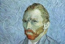 Van Gogh (Vincent Van Gogh)  / 30 March 1853 – 29 July 1890: A post-Impressionist painter of Dutch origin whose work, notable for its rough beauty, emotional honesty, calligraphic line and bold color, had a far-reaching influence on 20th-century art. After years of painful anxiety and frequent bouts of mental illness, he died aged 37 from a gunshot wound, generally accepted to be self-inflicted (although no gun was ever found). His work was then known to only a handful of people and appreciated by fewer still. / by Don Johnson
