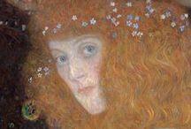Klimt (Gustav Klimt) / Avant-Garde portraiture and painting in turn of the century (1868-1918) Vienna http://www.gustav-klimt.com/  / by Don Johnson