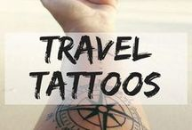 Travel Tattoos / Travel inspired tattoo ideas. I wish to get traditional Thai Sak Yant tattoo one day to protect me on my travels. tattoo ideas | body art | travel tattoo | meaningful tattoo | arm tattoo | back tattoo | wrist tattoo | rib tattoo | small tattoo |  thai tattoo | lotus tattoo | quote tattoo | symbol tattoo